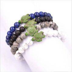 Lavastone Bracelets - Save the Sea Turtles