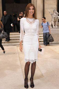 Carine Roitfield in white lace