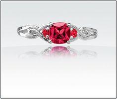 Ruby - the birthstone of July!  #birthstone #july #ruby