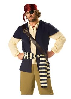 Adult Mens Pirate Rogue Buccaneer Halloween Costume