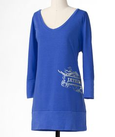 Take a look at this Blue Kansas Dolman Tunic - Women on zulily today!