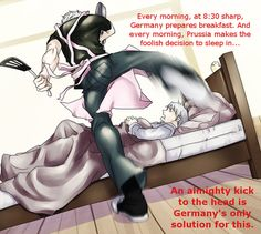 Germany and Prussia...anyone else think the pink apron was a gift from Italy?