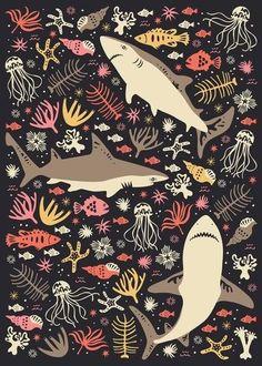 Background for shark week