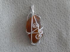 Items similar to Genuine Sea Glass Pendant on Etsy Hand Wrap, Sea Glass, Frost, Gems, Jewels, Drop Earrings, Trending Outfits, Pendant, Unique Jewelry