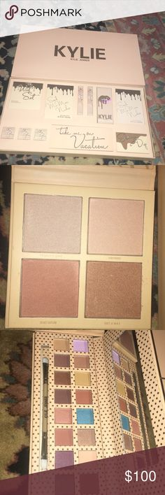 Kylie take me on vacation collection Kylie Jenner take me on vacation collection  My wife received this as a gift so I don't have proof of authenticity!! If you don't think it's real then don't buy it !!! Kylie Cosmetics Makeup