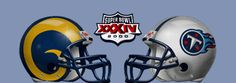 Super Bowl XXXIV: St. Louis Rams vs. Tennessee Titans @ Georgia Dome in Atlanta, GA, January 30, 2000.