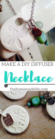 How to make a diy diffuser necklace from thehomemadelife.com