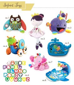 Best Infant Toys because the are soft and cant hurt them