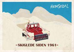 Poster Skiing Hemsedal.