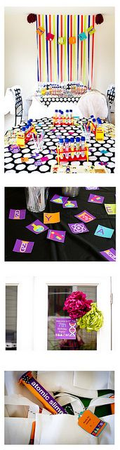 Science birthday party by no monsters in my bed, via Flickr
