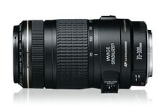 """EF 70-300mm f/4-5.6 IS USM    -developed to meet the high-performance standards that today's photographers demand. Improved Image Stabilizer Technology provides up to three stops of """"shake"""" correction, and the """"Mode 2"""" option stabilizes images while panning with a moving subject. Compared to the original Canon EF 75-300mm IS zoom lens, this telephoto lens has faster autofocus, and overall the lens is lighter and has a smaller diameter than the original. $650"""