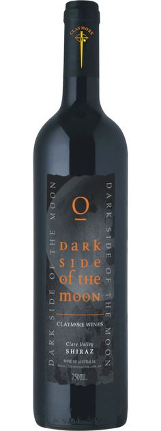 Claymore Dark Side of the Moon Shiraz. Another esoteric label. This tastes like blackberries, spicy plums and faintly leathery. But you know, in a good way. A favourite.