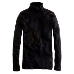 J Crew - Tissue turtleneck t-shirt Turtleneck T Shirt, Black Turtleneck, Fall Wardrobe Basics, Fall Basics, Get Dressed, Black Sweaters, J Crew, Long Sleeve Tees, Cool Outfits