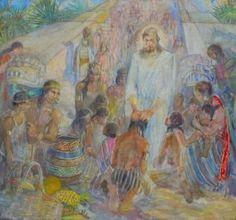 Teichert Christ blessing the children