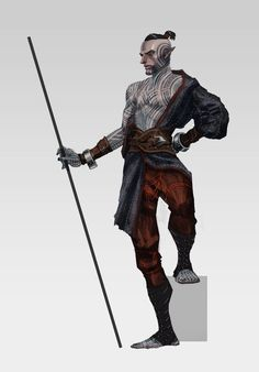Fenris concept for Dragon Age 2 by Matt Rhodes. Fantastic art but THANK HEAVENS they didn't go with this
