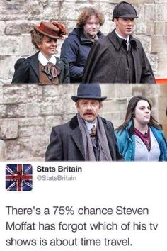 Maybe he's just giving us Wholock?<< PLOT TWIST THE SHERLOCK XMAS SPECIAL TURNS OUT TO BE WHOLOCK OH PLEEASSSE