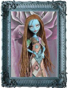 OOAK Custom Repaint Monster High Sally Art Doll by Darth Dusty | eBay