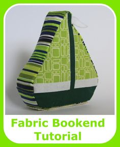 Cook Clean Craft: Car, Boat, Train Fabric Bookends Tutorial