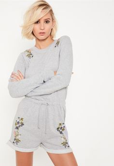 Go floral with our beaut embroidered playsuit - perfect for those chill days.