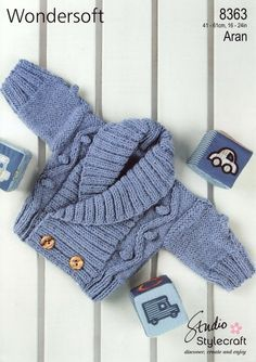 the online pattern store Baby Boy Knitting Patterns, Knitting For Kids, Crochet For Kids, Baby Patterns, Knit Crochet, Crochet Patterns, Pull Bebe, Baby Coat, Baby Cardigan