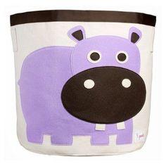 3 Sprouts Hippo Storage Bin - UBNHIP