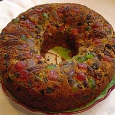 Amish Fruit Cake - moist, soaked in brandy and no Frankenfruit! Sweets Recipes, Fruit Recipes, Cake Recipes, Cooking Recipes, Desserts, Xmas Food, Christmas Sweets, Christmas Fruitcake, Christmas Cakes