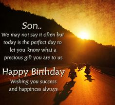 Happy Birthday Son Quotes, Wishes, Messages and Images