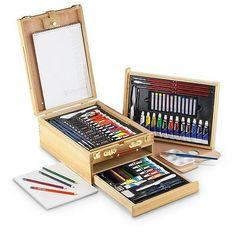 Royal & Langnickel 104-Piece All Media Easel Artist Set -- ART SUPPLY!! $150 - http://crafts.goshoppins.com/art-supplies/royal-langnickel-104-piece-all-media-easel-artist-set-art-supply-150/