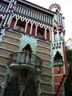 Vila de Gràcia Casa Vicens  Gaudí, Barcelona  Catalonia