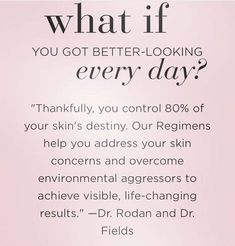#WhatIf... You have to wear your skin every day of your life. Shouldn't you take the best care of it? #LifeChangingSkincare