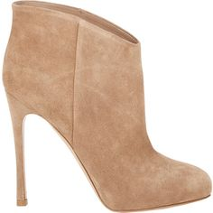 Gianvito Rossi Hidden-Platform Ankle Boots (10 420 UAH) ❤ liked on Polyvore featuring shoes, boots, ankle booties, heels, booties, ankle boots, nude, nude ankle boots, suede bootie and suede ankle boots