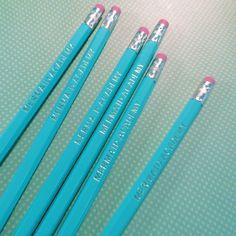 Mermaid Academy Hexagon Pencil Set Personalized Pencils, Bubble Wrap Envelopes, Clear Bags, Mermaid
