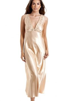 48a4b36f99 Camille Womens Luxury Gold Satin Chemise