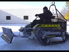 The Worlds 1st Wheelchair Plow Upgrade. Ripchair 3.0 - YouTube