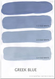 "Greek Blue Excellent info from Ciruelo Interiors Blog; ""Annie Sloan Chalk Paint lovers: Here is my extended colours range"" show how the colors can be mixed to achieve huge color range~"