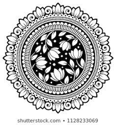 Mandala Art Lesson, Mandala Artwork, Mandala Painting, Watercolor Mandala, Arte Mehndi, Henna Mehndi, Henna Mandala, Mandala Tattoo, Mandala Doodle