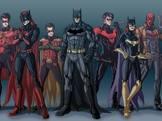 Comics Batman Robin (Batman) Batgirl Nightwing Batwoman Red Robin Red Hood The New 52 DC Comics Wallpaper Batwoman, Nightwing, Batgirl, Batman Robin, Im Batman, Batman Art, Marvel Dc Comics, Superman, Robin Superhero