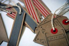 Gift Flag Tags by onelantern on Etsy, $10.00