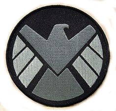 AGENTS OF S.H.I.E.L.D. Emblem Embroidered Cloth Iron On Patches Appliques Marvel Comics