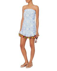 f0be0266f7 Athena Procopiou Midsummer s Sky Pom Strapless Dress Wardrobe Ideas