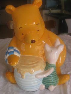 Classic Pooh Bear & Piglet Cookie Jar