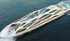 unique circle yachts by zaha hadid.  love the organic form.