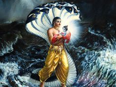 How Adisesha serpent protected baby Krishna