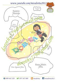 Moldes, Videos Tutoriales y Revistas Gratis de Foami, Goma Eva y microporoso, Compartir es nuestro lema y vayamos por la vida haciendo el Bien Felt Crafts, Diy And Crafts, Crafts For Kids, Paper Crafts, School Decorations, Punch Art, Paper Piecing, Classroom Decor, Hand Embroidery