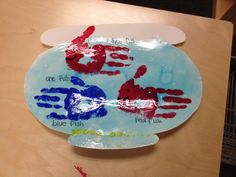 Dr Seuss one fish two fish // water is light corn syrup and blue food coloring