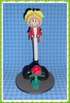 caneta decorada Pequeno Príncipe
