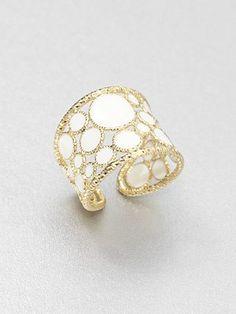 Roberto Coin Enamel & 18K Gold Ring