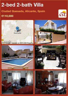 2-bed 2-bath Villa in Ciudad Quesada, Alicante, Spain ►€110,000 #PropertyForSaleInSpain