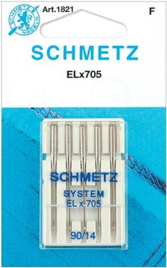 ELX705 Serger Needles -Size 14/90 5/Pkg Euro-Notions  Pour ma recouvreuse