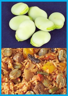 Broad bean rice Rice Dishes, Cantaloupe, Beans, Fruit, Nice, Breakfast, Book, Recipes, Morning Coffee